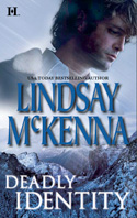 The cover for Deadly Identity by Lindsay McKenna